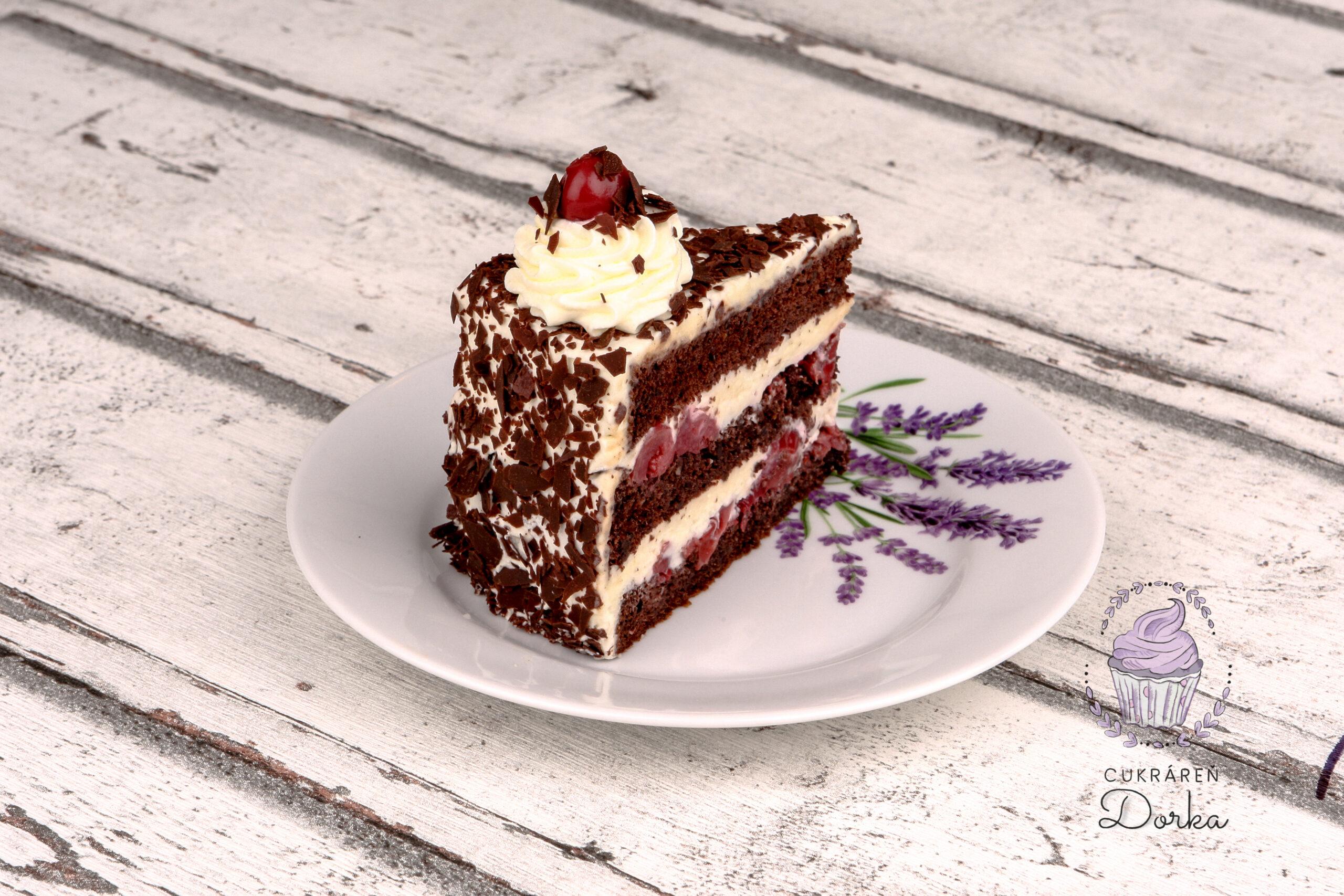 Schwarzwaldská torta rez