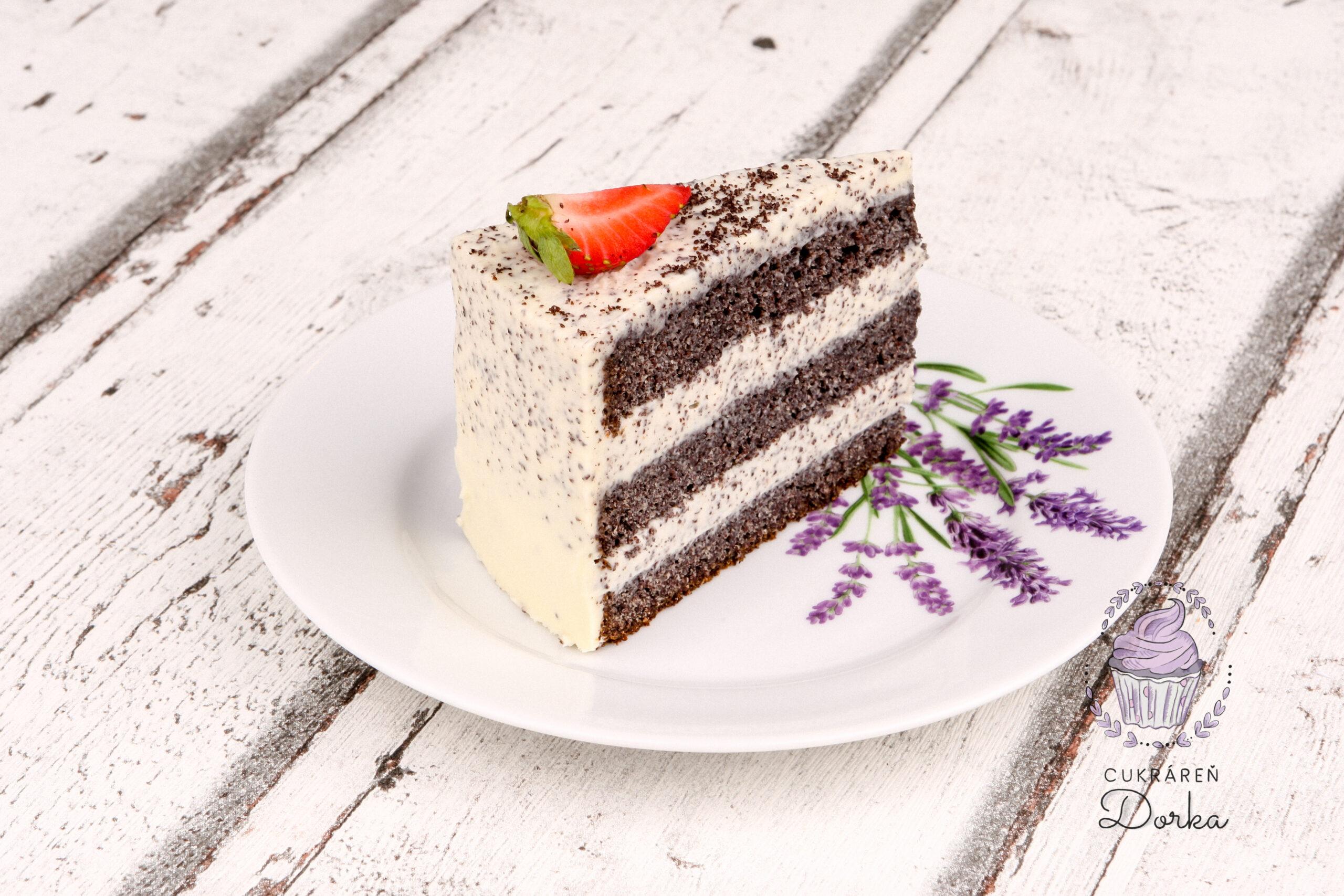 Výrez maková torta