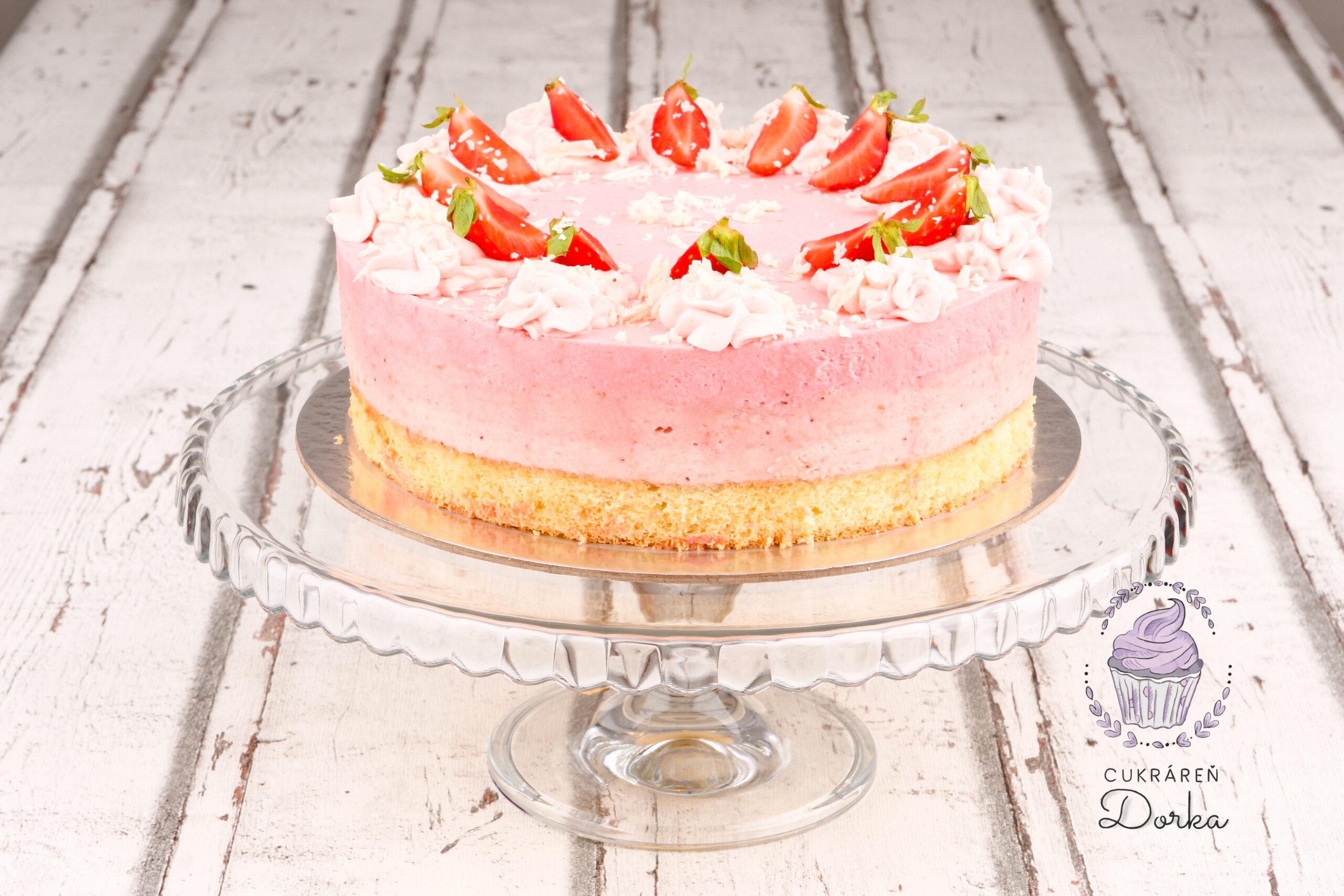Jahodovo-smotanová torta