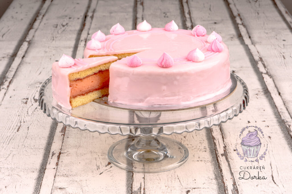 Punčová bezlaktózová torta